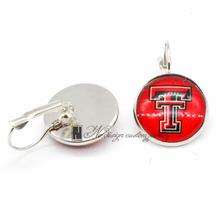 Texas Tech University Charms Earings French Hook Earrings for Women Gift 10pcs/Lot GE072(China)