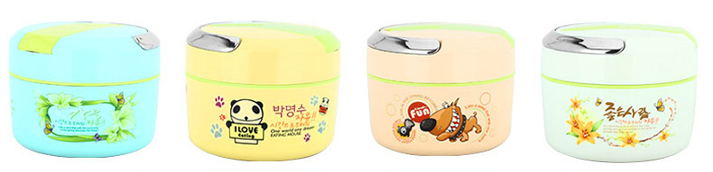 Cute Cartoon 304 Stainless Steel Lunchbox Thermal Insulation Food Storage Container Portable Handle Picnic Bento Lunch Box 12