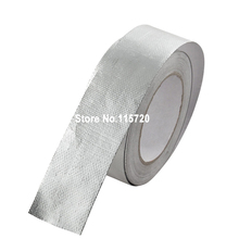 48mmx25m Car Motorcycle High Heat 450C Insulation Fiberglass Wrap Thermal Exhaust Header Pipe Turbo Wrap Tape Fireproof Cloth