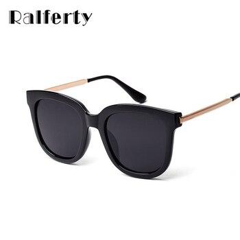Ralferty Coreano Praça de Grandes Dimensões Óculos De Sol Das Mulheres Dos Homens de Luxo Da Marca óculos de Sol Pretos Grandes Óculos Espelho Shades Oculos luneta femme 1060