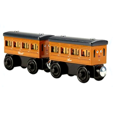 RARE light Annie & CLARABEL Original Thomas And Friends Wooden Magnetic Railway Model Train Engine Boy /Kids Toy Christmas Gift(China)