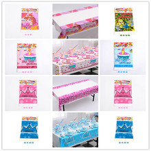 Birthday Party Home Decorative Plastic Tablecloth Map Forest Animals Print Birthday Party Tablecloth Baby Bath Hobbies 1pcs