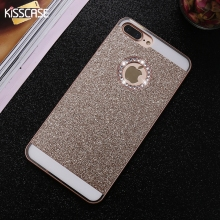 KISSCASE Phone Case For iPhone 7 7 Plus Case Cute Lovely Bling Glitter Rhinestones Hard PC Cover for iPhone 6 6 s Plus 5 5s 4 4s(China)
