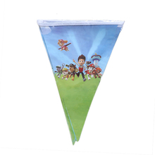 1set Banner 10pcs small Flags Paw Patrol Baby Birthday Party Supplies Flags Paper Banners Bunting Kids Birthday Party 2.5