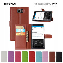 Luxury Wallet PU Leather Phone Case For Blackberry Priv Book Style Flip Stand Cover For Blackberry Priv Cases Fundas Coque Capas(China)