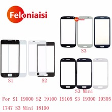 For Samsung Galaxy S1 I9000 S2 I9100 I9105 S3 I9300 I9305 I747 S3 Mini I8190 Front Outer Glass Lens Touch Screen Panel(China)