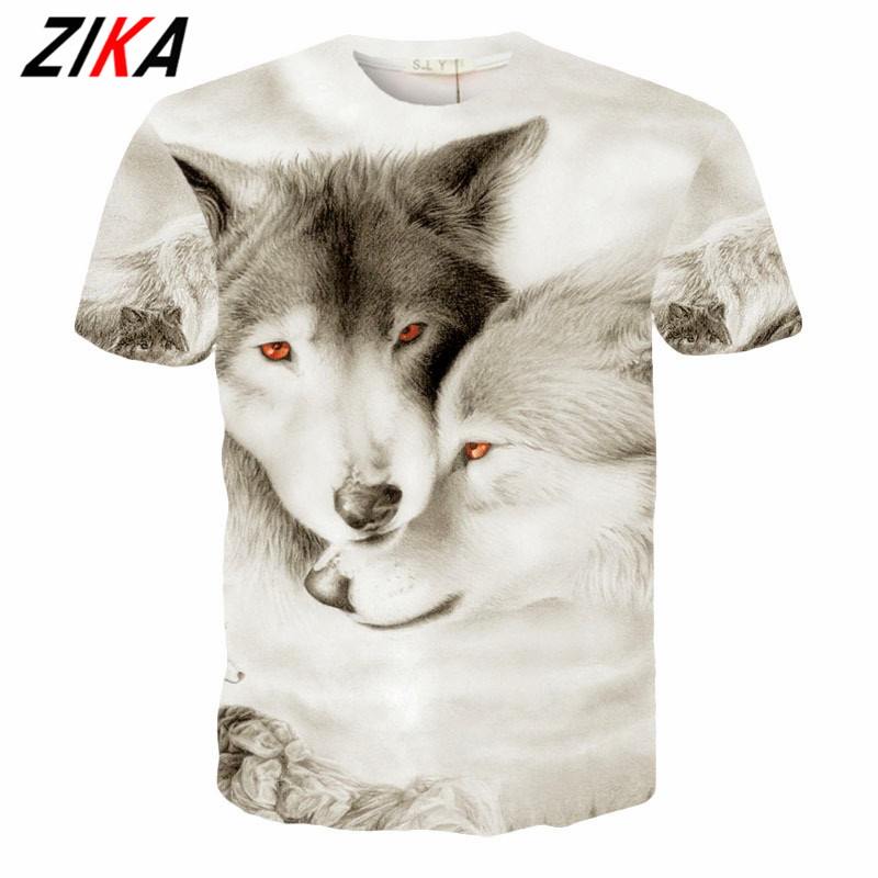 ZIKA ZIKA European 3D Printed Top Personality Children T-shirts Trendy Animal Wolf Funnel British Eagle Pattern Teenager Tees<br>