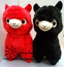 2016 New Coming!Japanese Alpacasso Soft Toys Doll ,Red And Black Kawaii Alpaca Plush Kids Christmas Gift(China)