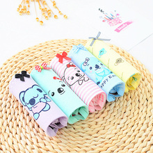 Buy QUECOO 5pcs/lots Combo set lovely sexy cartoon printing underwear cotton comfortable women's underwear panties ww-61