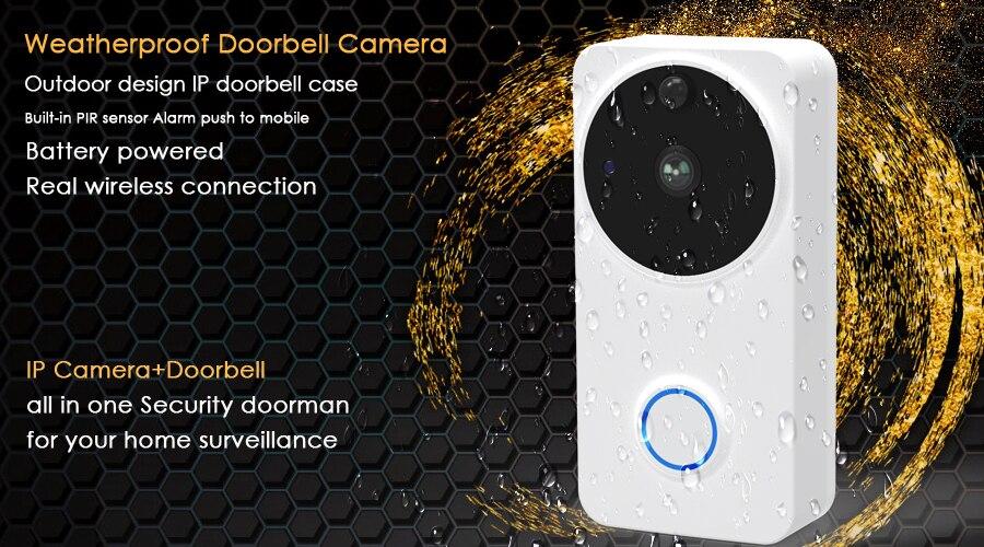 CTVMAN Video Doorbell Door Intercom Waterproof Door Phone Wifi Battery Wireless Doorphone For Apartment Outdoor Doorbell Camera1 (1)