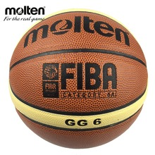 Professional Women's Basketball Ball Molten GG6 Basketball Ball PU Leather Official Size 6 Basketball Free With Net+Needle(China)