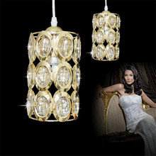 LED Lampada K9 Crystal ceiling Light Crystal droplight Decorative luminaire 90-260V flush mount De Techo lustre Fixture(China)