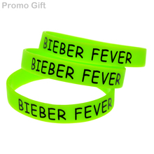 Promo Gift 50PCS/Lot Justin Bieber, Bieber Fever Bracelet Silicone Wristband(China)