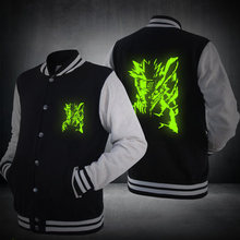 Unisex Anime NARUTO Sasuke Uchiha Akatsuki Cosplay Costumes Luminous Jacket Sweatshirts Women Men Hoodies Coat Free Shipping(China)