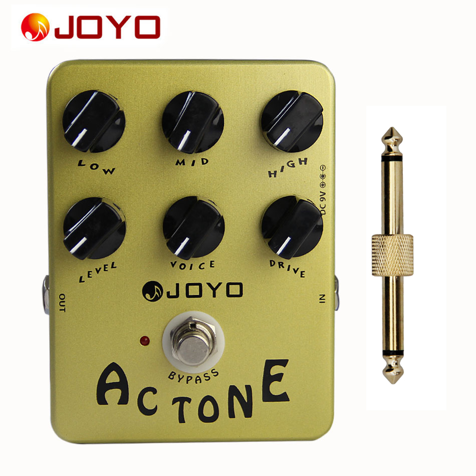 JOYO JF-13 AC Tone Classic British Sound True Bypass Pedal with Pedal Connector<br>