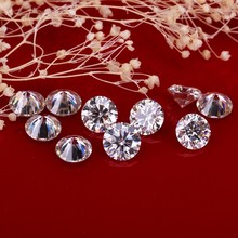 H near white color 24pcs/pack synthetic diamonds beads 2.2mm round shape moissanites stone for jewelry making