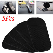 Durable 5Pcs Car Anti-slip Sticky Magic Mat Spider Sticky Pad Slip-resistant Mobile Phone Pad for Auto Cell Phone Anti Slip Pad(China)