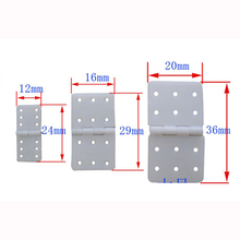 20pcs Hinge Plastic Hinge Servo Linker for RC Airplane Hobby Plane Helicopter Quadcopter(China)