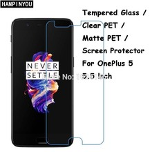 Tempered Glass / Clear PET / Matte PET -- Screen Protector Protective Film For OnePlus 5 Five Oneplus5 1+ 5 A5000 5.5""