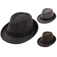 Vintage de los hombres de invierno de pastel de cerdo sombrero de sombrero  con Grosgrain banda de Jazz sombrero tapa gorras para. 115a5c056b3