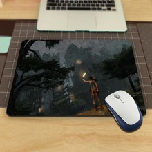 MaiYaCa Lara Croft In The Rain Tomb Raider Practical Desk Computer Custom Mouse Pads for Size 18*22cm and 25*29cm