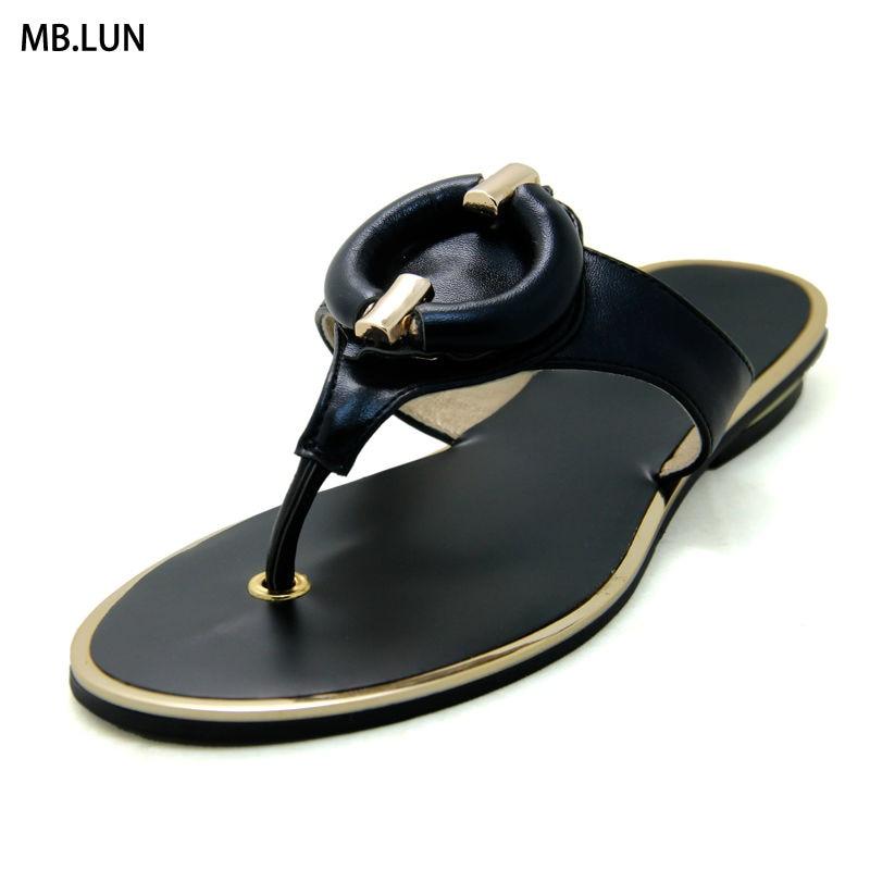 Flip Flops Women Sandals Flat Slippers Wedges Ladies Sandals Women Summer Shoes Woman Designer 2017 Black Gold Sandals Big Size<br><br>Aliexpress