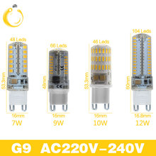 Lowest price 2017 Newest 220V G9 G4 LED Lamp led Lampada LED g4 g9 Bulb 360 Beam Angle Lights Replace Halogen Crystal Spotlight(China)