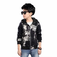 Xemonale 2018 Spring Children's Clothing Boy Casual Cardigan Jacket Big Child Hood Dye Jacket Girls Coat Kids Clothes Children(China)