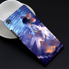 Anime girl sleeves hair black cover Design case cover cell phone cases for huawei P8 Lite P8 P9 P9 plus mate 7 8 hard shell