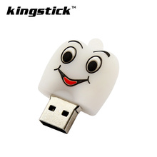 hot sale white silicone tooth usb flash drive 4GB 8GB 16GB Cute pen drive 32GB 64GB cartoon pendrive U disk lovely creative gift