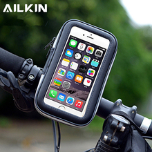 Bike Bicycle Handlebar Phone Holder Phone Bag AILKIN Outdoor Sports Waterproof Support stand Bag For phone 3 Sizes(China)
