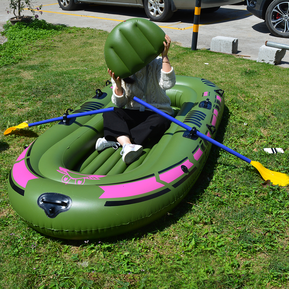 1 Set 2 - 3 Person Portable Inflatable Boat High Strength PVC Rubber Fishing Boat 230x137cm with Paddles Pump Patching Kit (7)