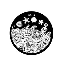 Starfish & Shell Theme Nail Art Stamp Template Image Plate BORN PRETTY BP10 BW2722