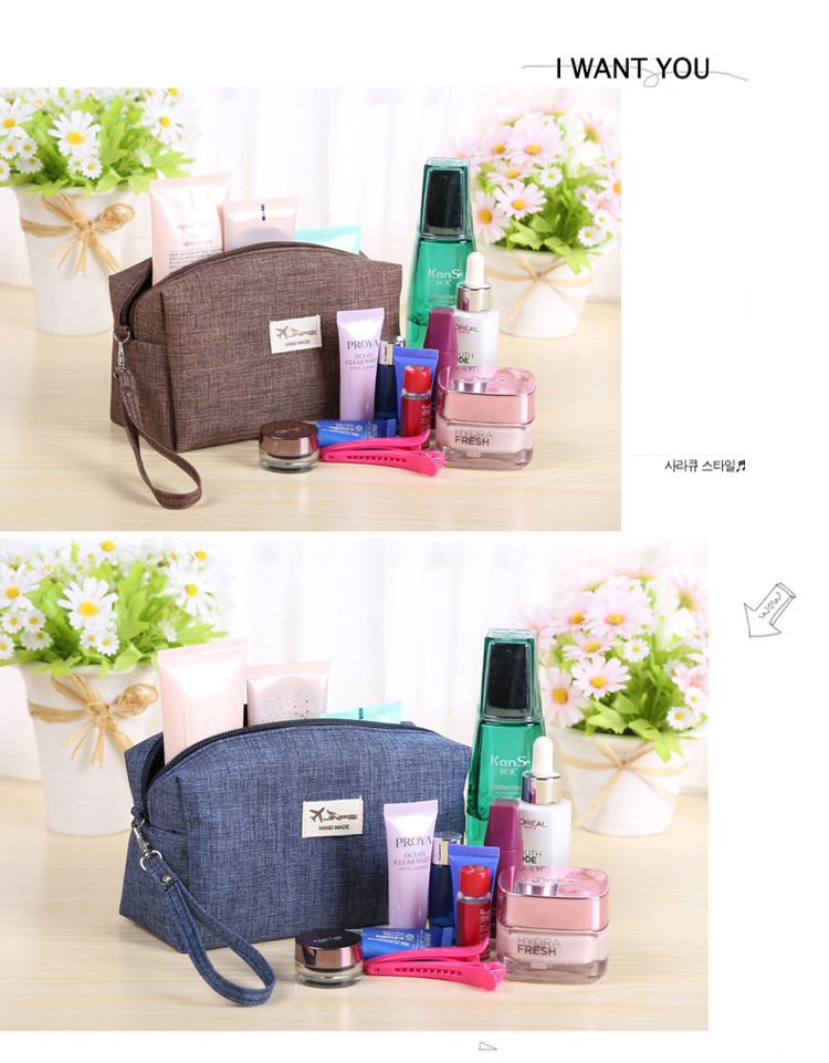 2018 Korean Style Toiletry Bags Canvas Travel Cosmetic Bag Small Organizer  Women Makeup Bag Neceser Make up Case Beauty Storage Weight 90g.  Package 1Pcs e74c15beef77b