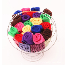 Kitchen Cleaning 5 Pcs Microfiber Towel Low Cost Nano Microfiber Fast Dry Hair Bathroom 2017 New Colorful Random Color(China)