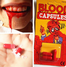 Funny Blood Pill Trick Toys Whimsy Prop Vomiting Blood Capsule April Fool's Day  Joke Toys