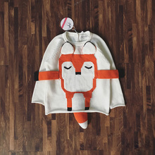 NEW 2018 Boys Sweaters Baby Girls Autumn Winter Wear Warm Fox Cartoon Sweaters New Children Pullovers Outerwear Baby Sweater(China)