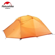 Naturehike Camping Tent 3 Person Plaid Fabric Ultralight Double Layers Aluminum Rod Tent 4 Season Tourist Rainproof UV40+(China)