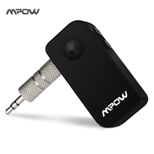 Mpow wireless bluetooth receiver Black Portable 3.5 mm Stereo Output Bluetooth 4.1 Audio Streaming hands-free Receiver Adapter(China)
