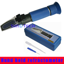 Free shipping Auto brix Refractometer Hand held 0-5% Brix cuttling liquid refractometer P-RHB-5ATC(China)
