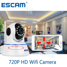 Escam Mini Wifi IP Camera CCTV Security Camera 720P HD Network Camera P2P IR Cut Two Way Audio Micro SD Card Night vision