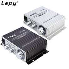 Original Lepy LP-V3 Hifi Lepy Stereo Power Digital Amplifier with 3.5mm Audio Input Support Loudspeaker Volume Control for Car(China)