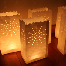 10pcs/lot Sun light Holder Luminaria/Fireproof Paper Lantern Candle Bag For Wedding/Boda/Birthday Outdoor Party Decorative Craft