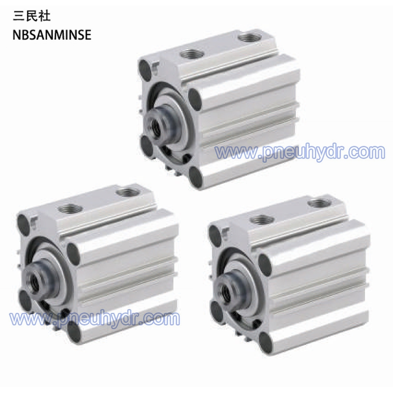 CQ2 80-5 Compact Cylinder Standard Doubel Acting Single Rod type SMC cylinder pneumatic air cylinder SANMINSE Sanmin<br>