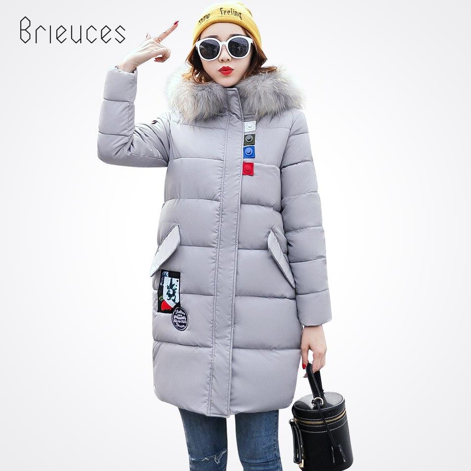 Brieuces New Arrival 2017 Winter Jacket Women Coat Long Parkas Female Warm Overcoat Large Fur Collar Thicken Jacket CoatÎäåæäà è àêñåññóàðû<br><br>