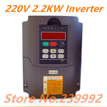 Free shipping NEW  2.2KW 220V AC Frequency Inverter 400HZ VFD VARIABLE FREQUENCY DRIVE WITH Potentiometer Knob AC Inverter