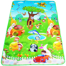 Baby Play Mat 180*120*0.5cm Double Side Dinosaur+Animal Car Children Floor Carpet Kids Crawling Rugs Baby Game Pad Gym Cushion(China)