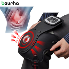 Hot Knee Massage Instrument Physiotherapy Instrument For Knee Joint Compress Beurha Electrothermal Kneepad Home Rehabilitation