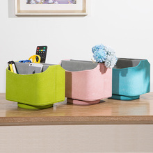 European Style Mobile Phone Remote Controller Storage Boxes Creative 360 Rotation Desktop Storage Box Living Room Table Box Bins