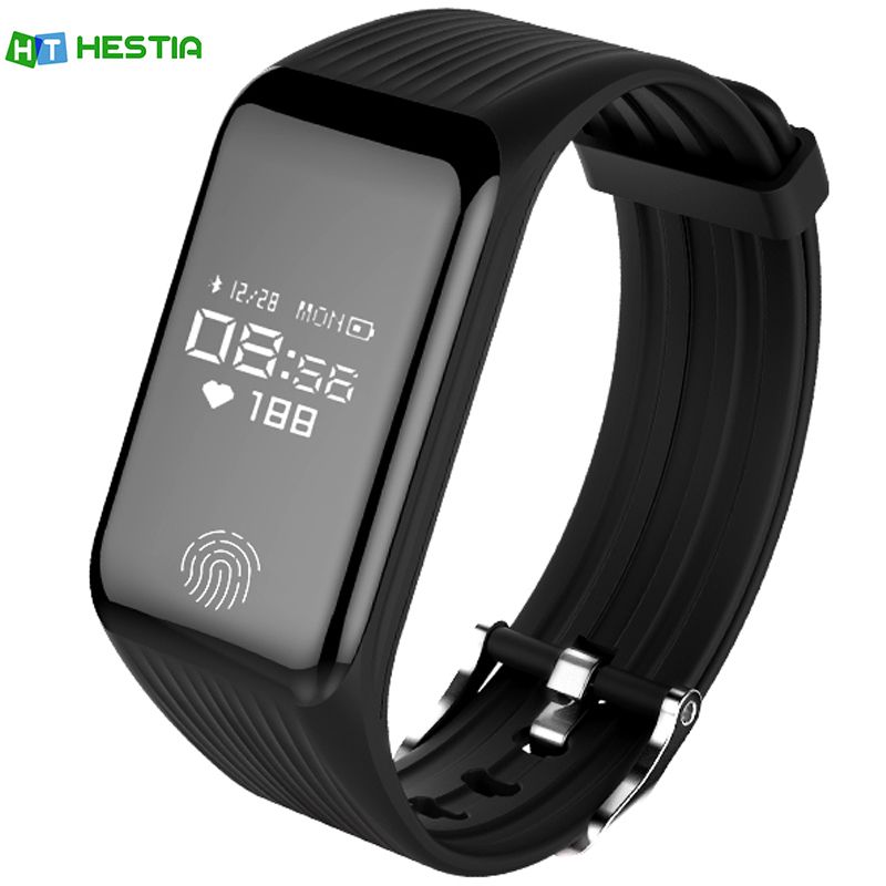 HESTIA Smart Wristband OLED Screen IP67 Waterproof Sports Fitness Tracker Heart Rate Android iOS PK xiomi mi Band 2 fitbits